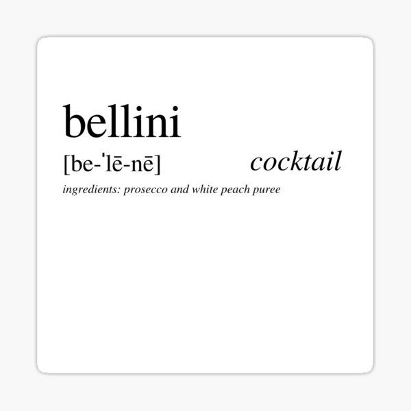 Bellini cocktail Sticker