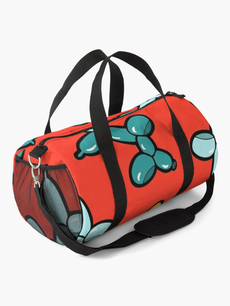 Alternate view of Balloon Animal Dogs Pattern in Red Duffle Bag