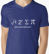 I ate pi and it was delicious Men's V-Neck T-Shirt