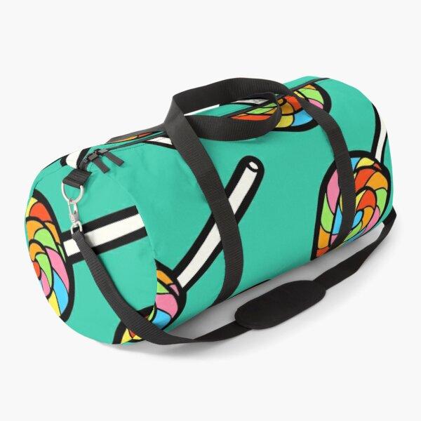 Rainbow Lollipop Pattern Duffle Bag