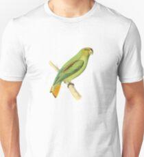 Golden-tailed Parrot Bird Illustration by William Swainson Unisex T-Shirt