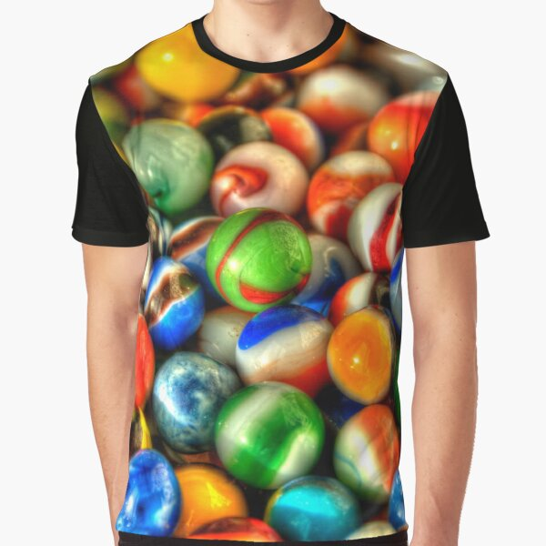 Colorful Vintage Marbles Graphic T-Shirt