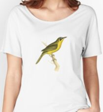 Grey-crowned Tanager Bird Illustration by William Swainson Women's Relaxed Fit T-Shirt