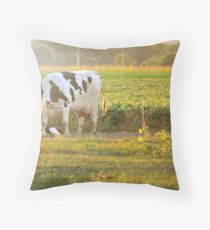 Hapy cows Throw Pillow