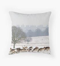 deer in the park Throw Pillow