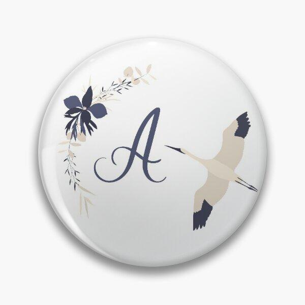 Fleur Initial A Pin