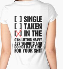 Relationship status GYM Women's Fitted Scoop T-Shirt