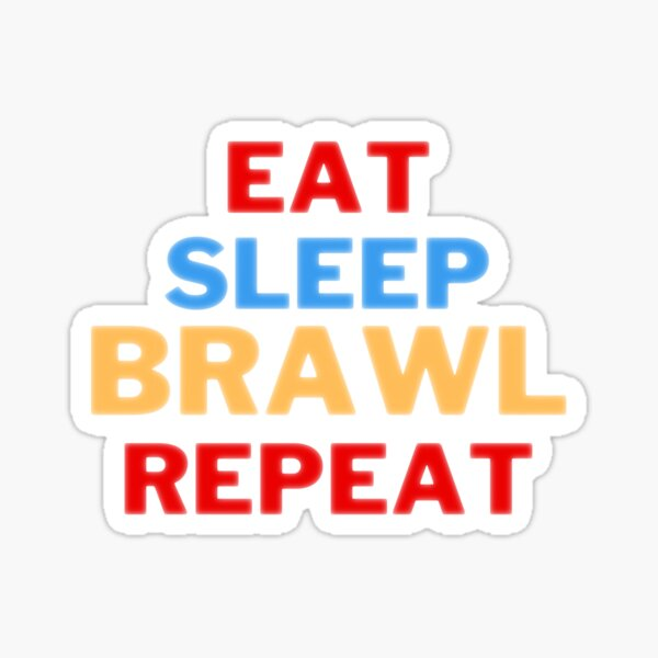 comer dormir pelear repetir Pegatina