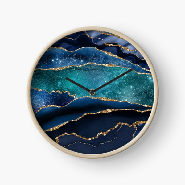 Glamour Milky Way Marble Galaxy Clock