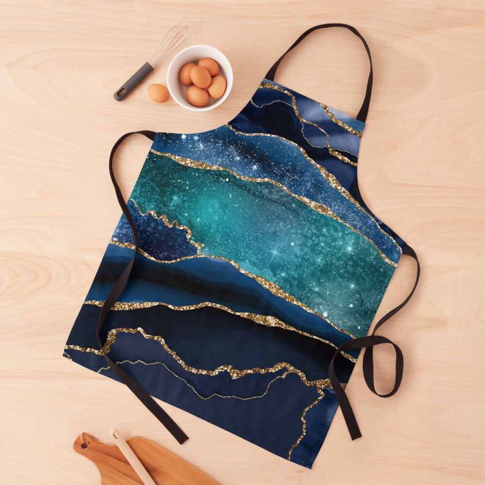 Glamour Milky Way Marble Galaxy Apron