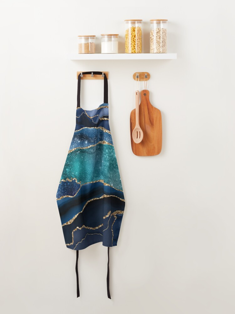 Alternate view of Glamour Milky Way Marble Galaxy Apron