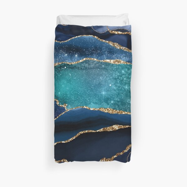 Glamour Milky Way Marble Galaxy Duvet Cover