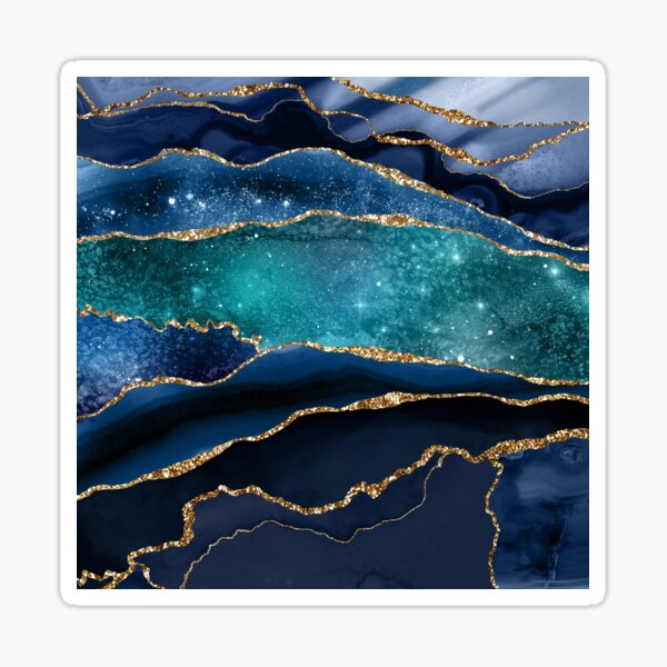 Glamour Milky Way Marble Galaxy Sticker