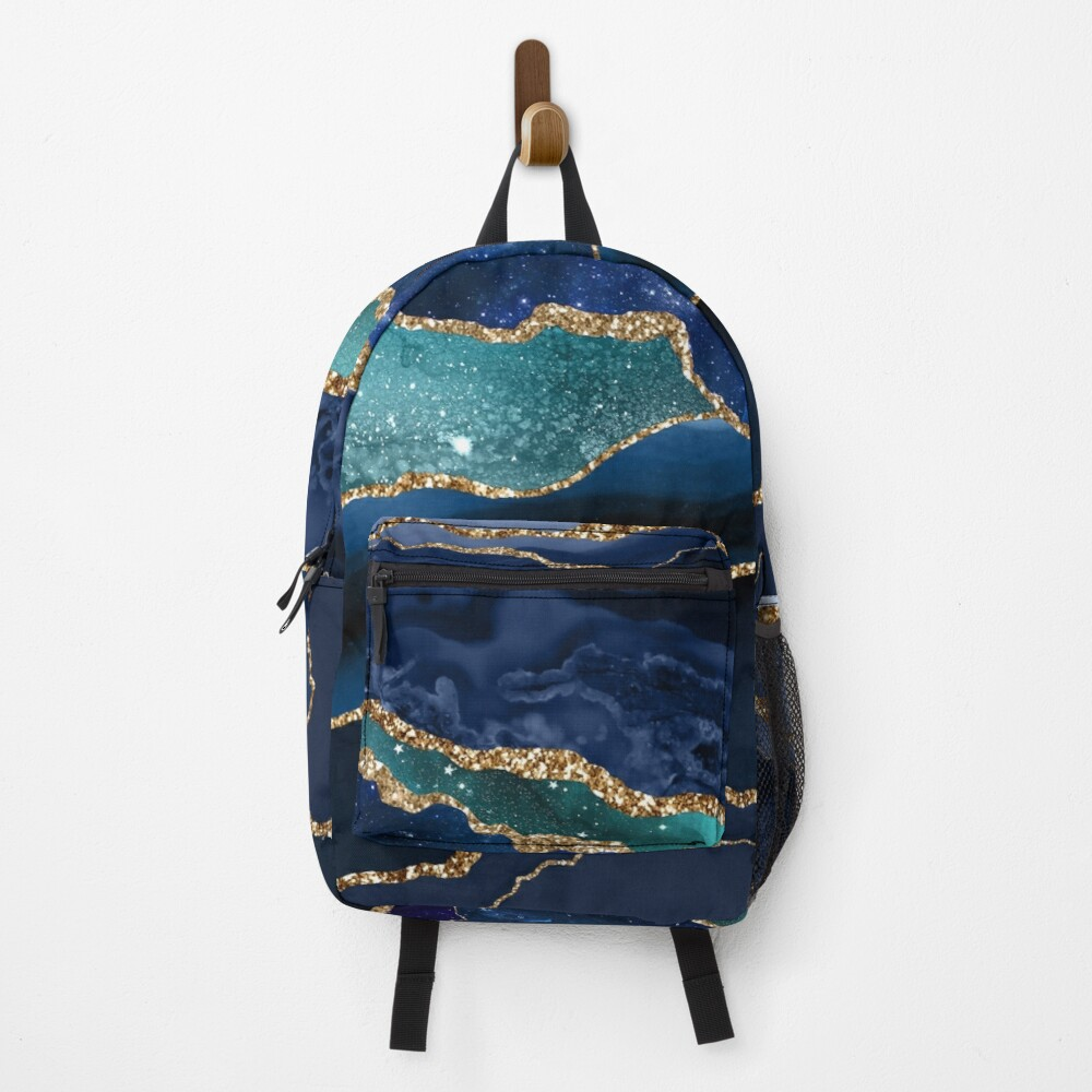 Glamour Milky Way Marble Galaxy I Backpack
