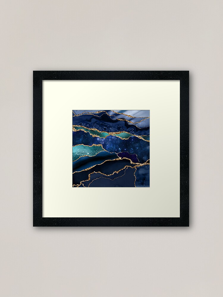 Alternate view of Glamour Milky Way Marble Galaxy I Framed Art Print