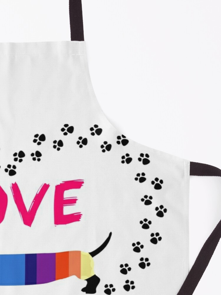 Alternate view of Love Dachshunds Apron