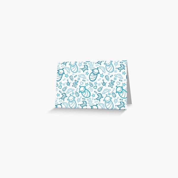 Cute baby boy pattern Greeting Card