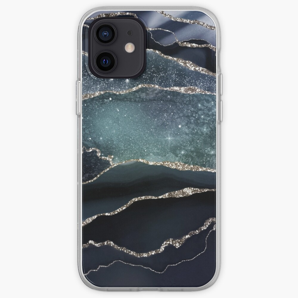 Glamour Night Black Milky Way Marble Galaxy iPhone Case & Cover