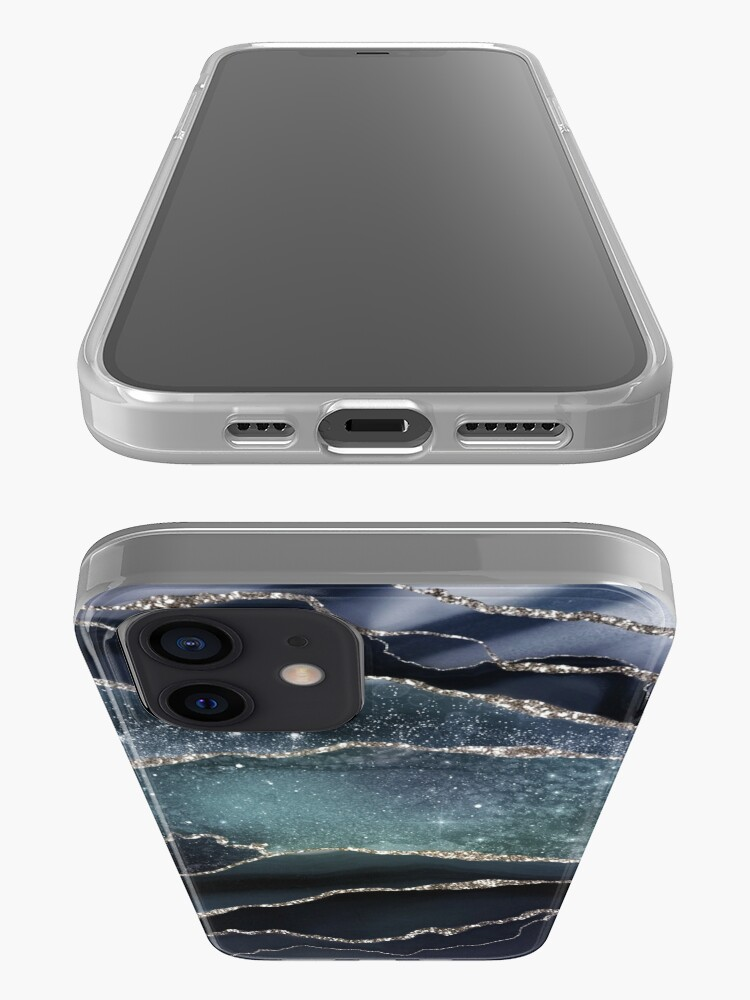 Alternate view of Glamour Night Black Milky Way Marble Galaxy iPhone Case & Cover