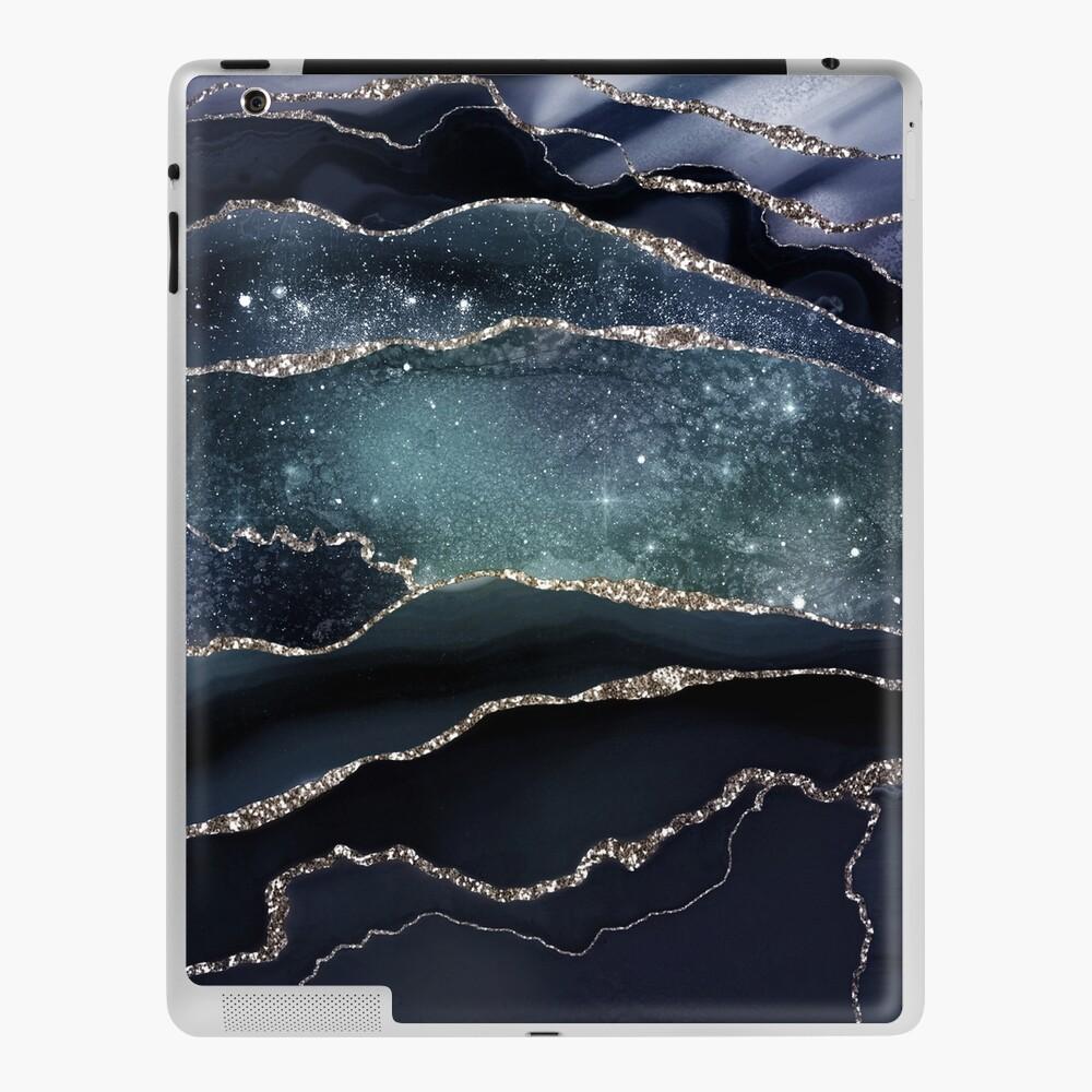 Glamour Night Black Milky Way Marble Galaxy iPad Case & Skin