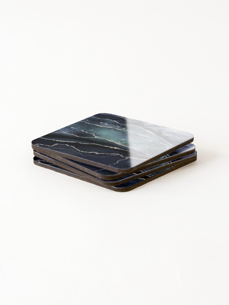 Alternate view of Glamour Night Black Milky Way Marble Galaxy Coasters (Set of 4)