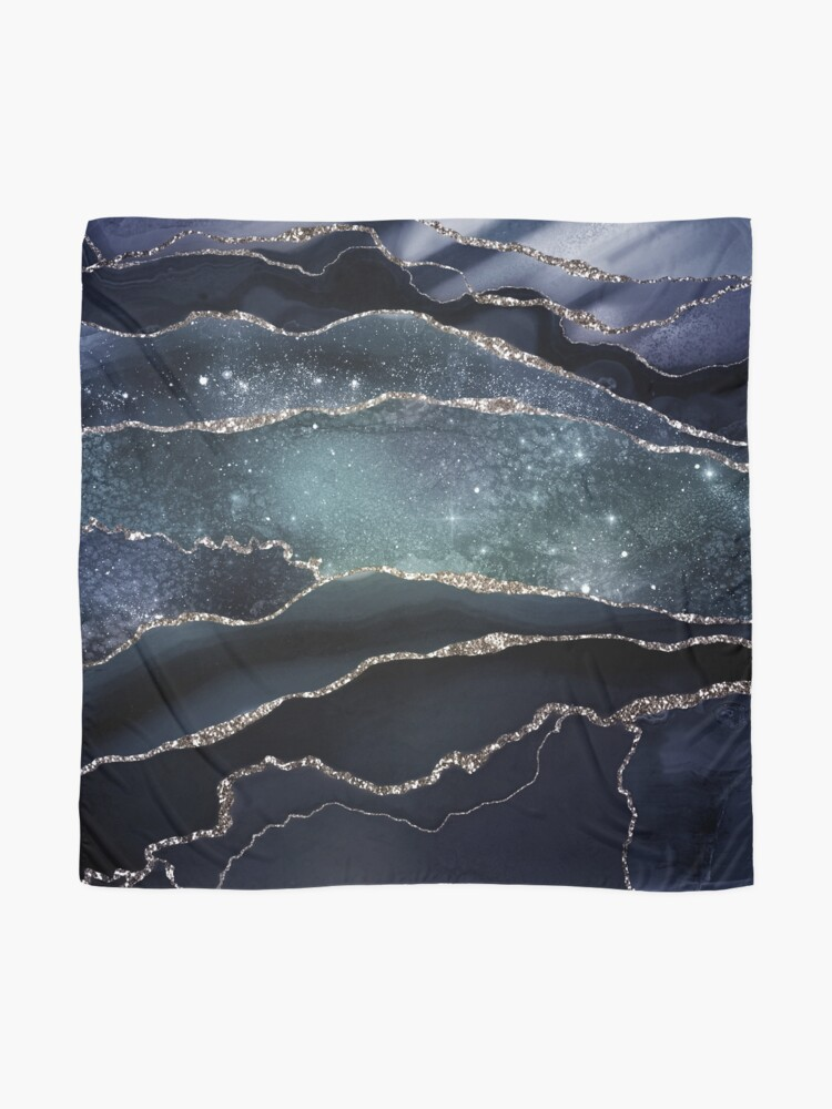 Alternate view of Glamour Night Black Milky Way Marble Galaxy Scarf