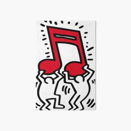 Keith Haring - Music Talking Heads Abstract Pop Art - T Shirt Art Board Print