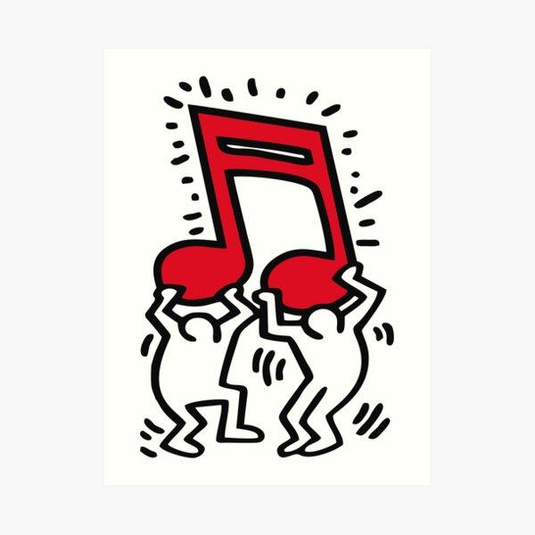 Keith Haring - Musique Talking Heads Abstrait Pop Art - T Shirt Impression artistique