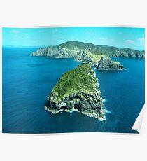 Cape Brett and Piercy Island, Bay of Islands, New Zealand.....! (2) Poster