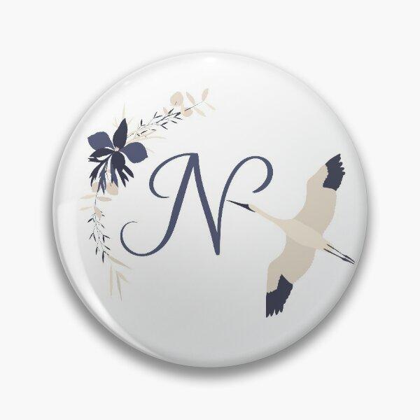 Fleur Initial N Pin