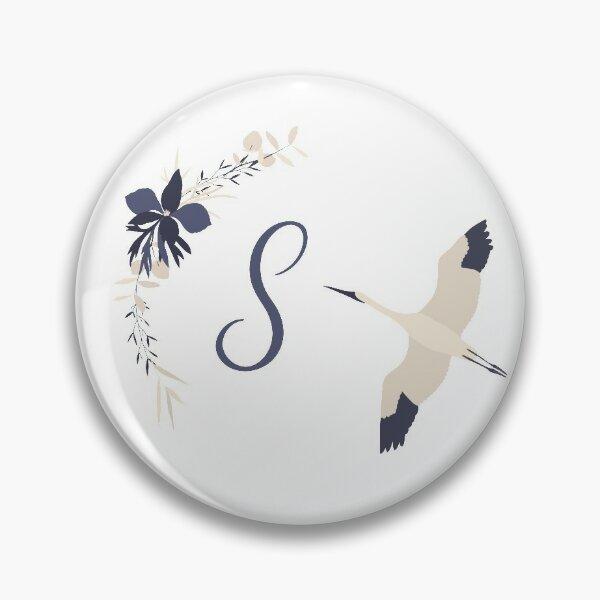 Fleur Initial S Pin
