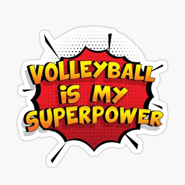 Volleyball est mon cadeau super design Volleyball dr�le Sticker