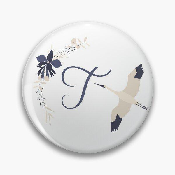 Fleur Initial T Pin