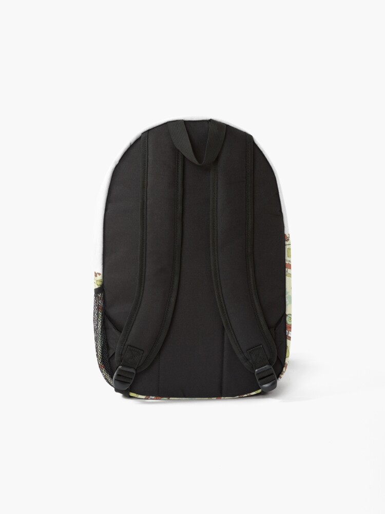 Alternate view of Retro Railroad Trains Backpack