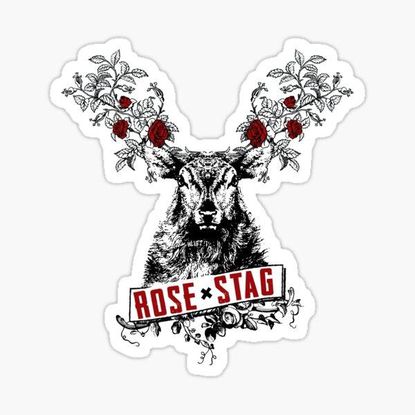 Rose X Stag Sticker