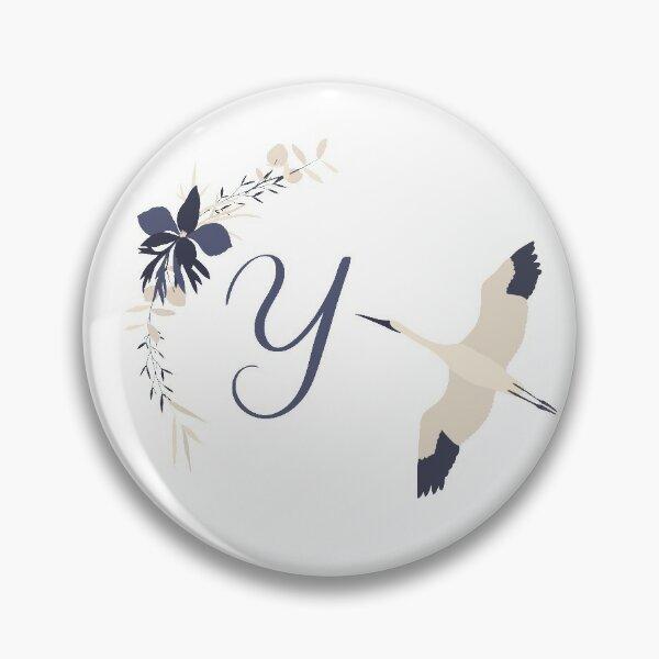 Fleur Initial Y Pin