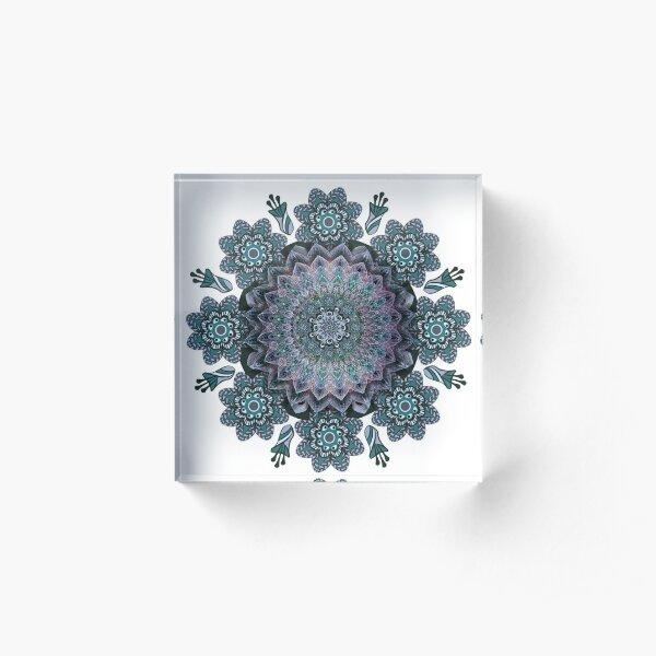 Abstract Mandala Art work Acrylic Block
