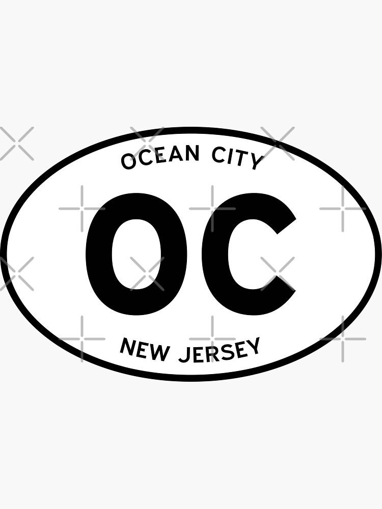 OC, Ocean City, New Jersey (NJ) — Oval Decal by ovalbeach