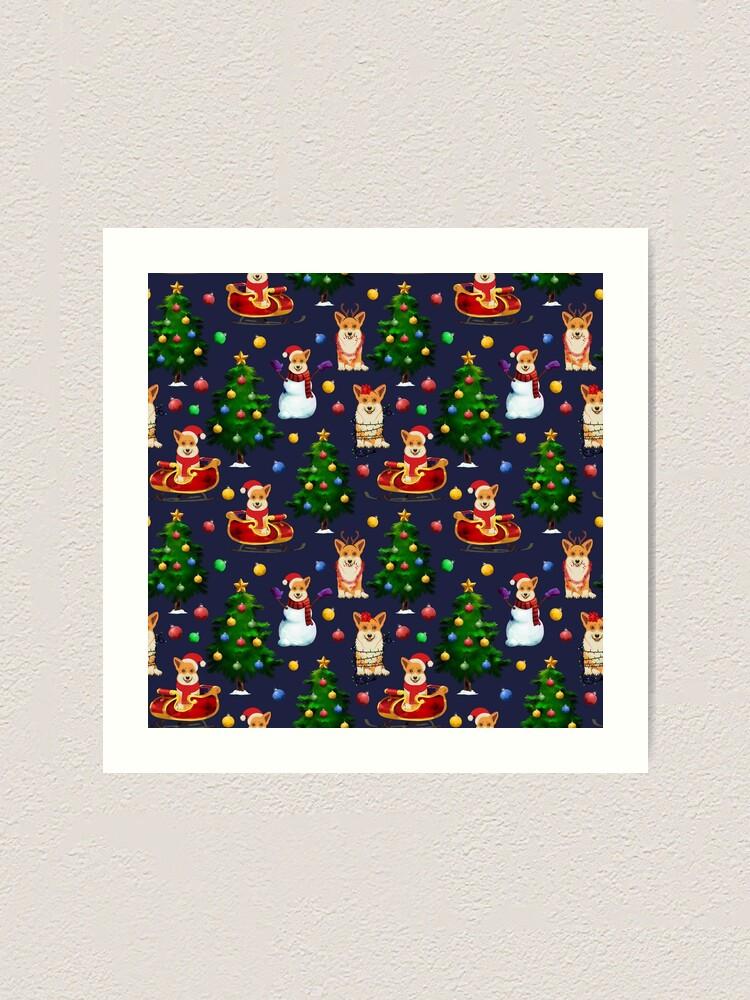 Alternate view of Corgi Christmas  Art Print