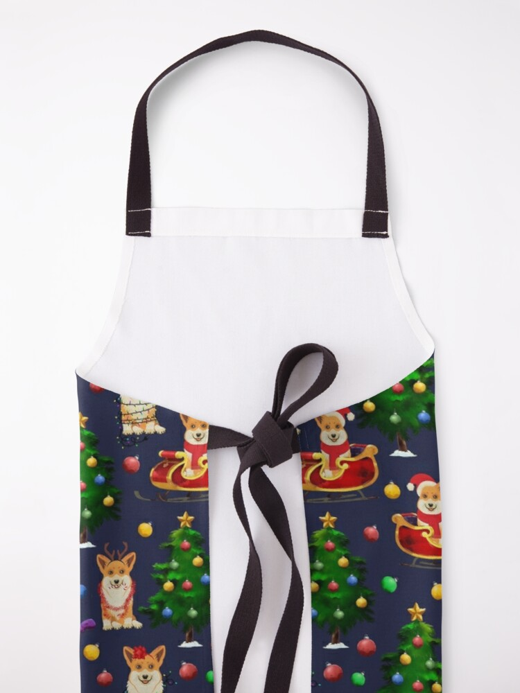 Alternate view of Corgi Christmas  Apron
