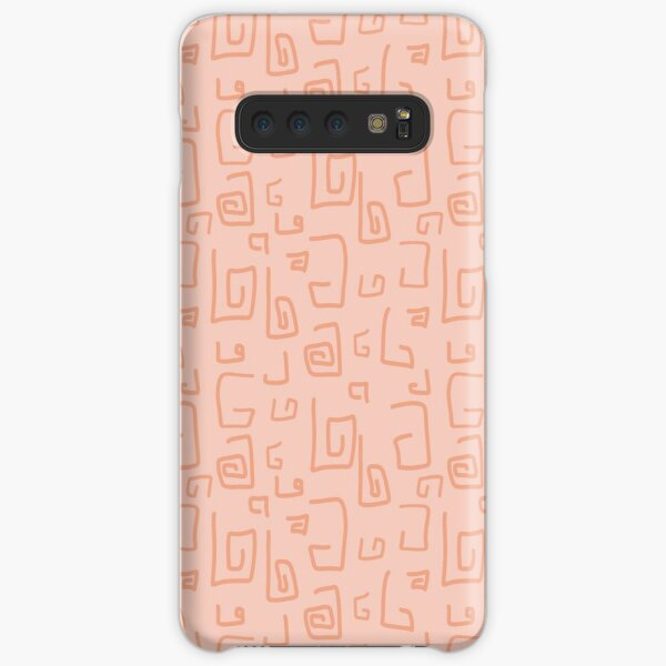 Random Doodles | Coral Peach | Pattern Samsung Galaxy Snap Case