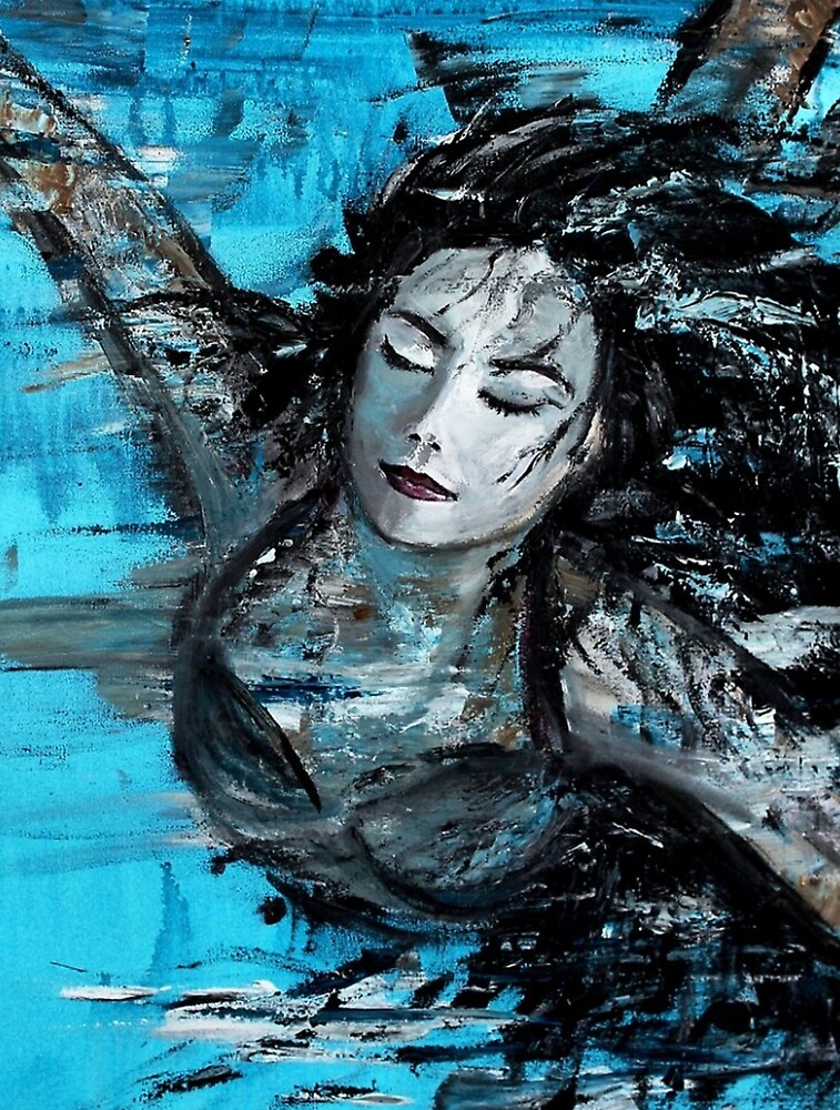 The Swimmer - painted by AstridS