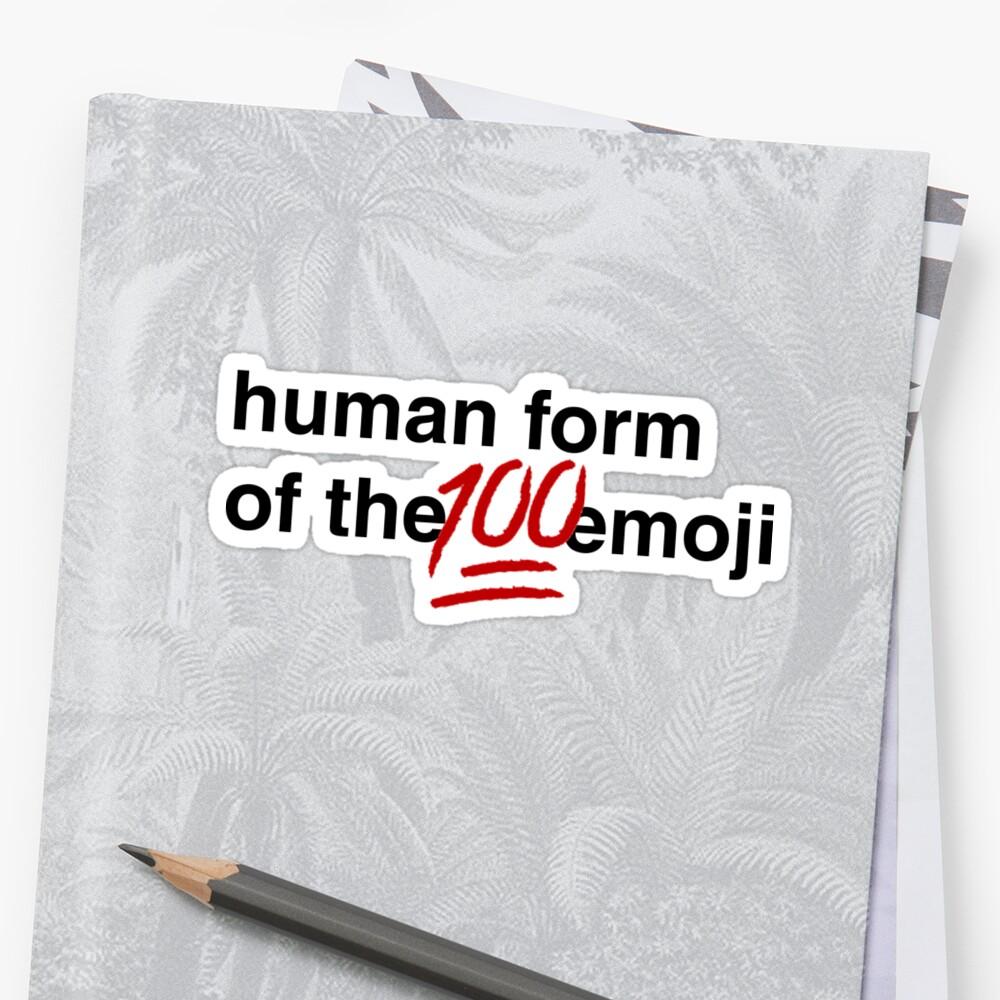 Gina Linetti - Menschliche Form der 100 Emoji Sticker