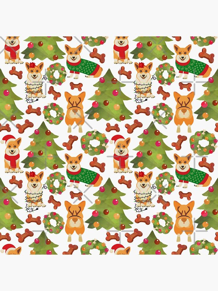 Corgi Christmas  White by Corgiworld
