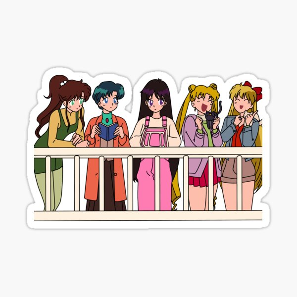 Sailor Scouts - 90s  Sticker