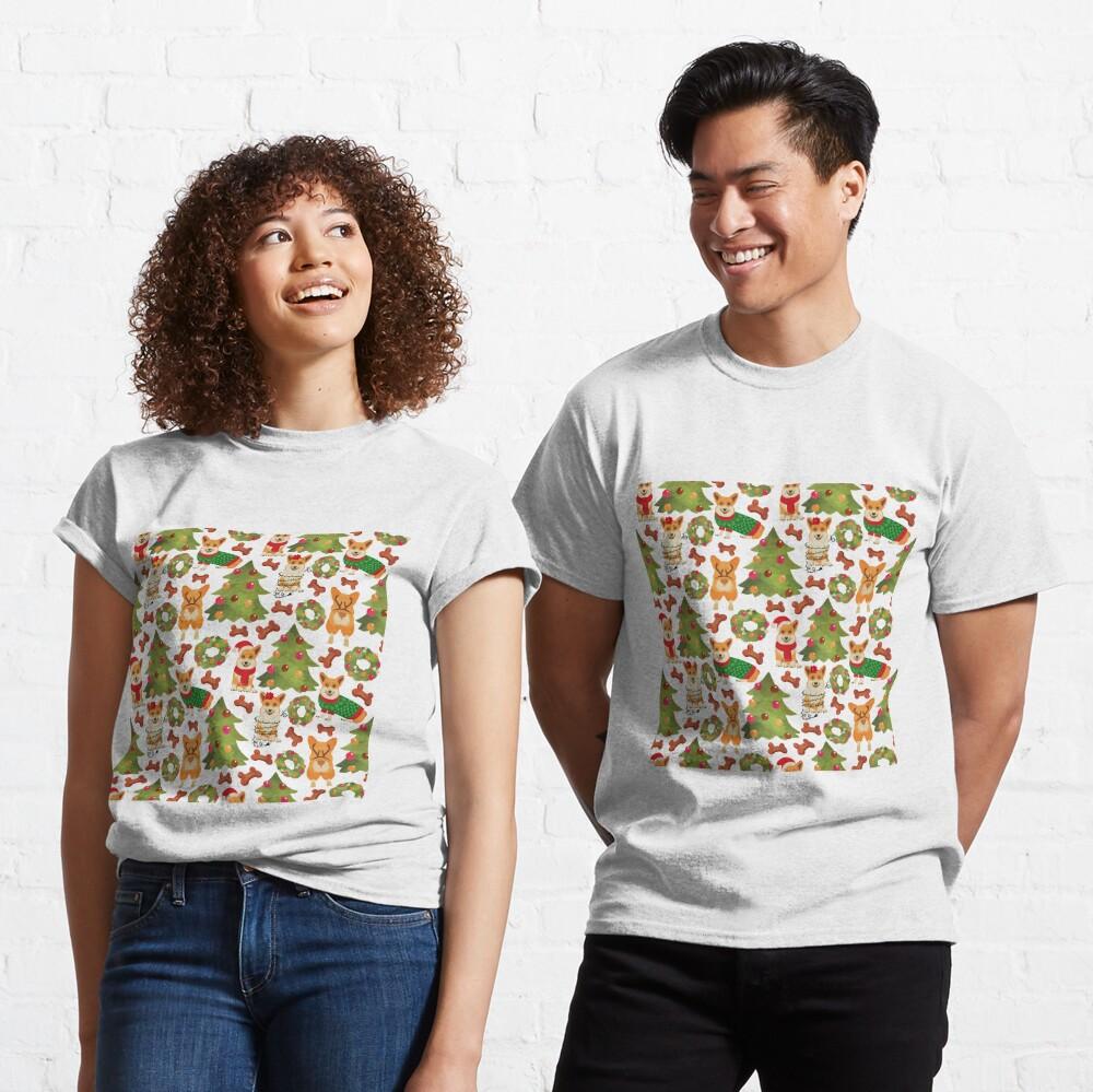 Corgi Christmas White  Classic T-Shirt