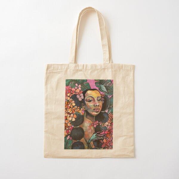 Palm Garden Cotton Tote Bag