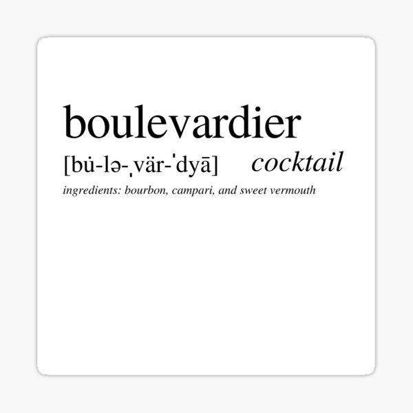 Boulevardier cocktail Sticker