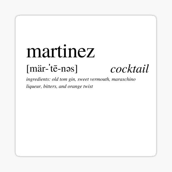 Martinez cocktail Sticker