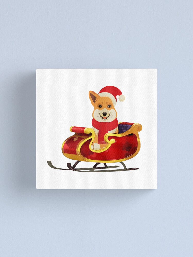 Alternate view of Merry Corgmess Canvas Print